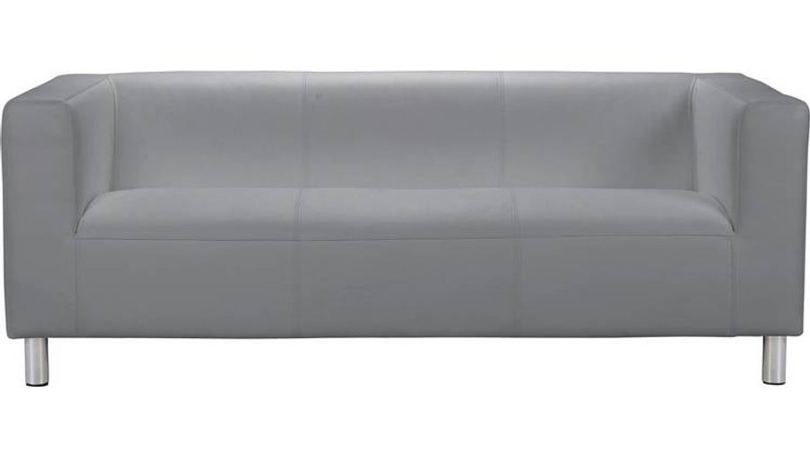Moda Leather 3 Seater Sofa White