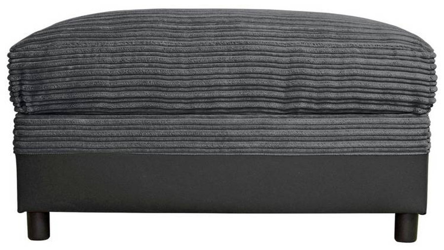Harry Storage Footstool Charcoal