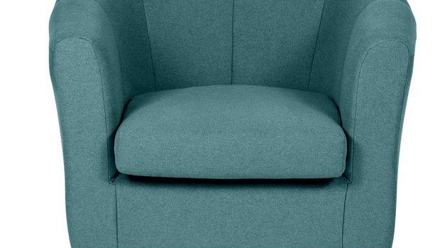 Habitat Ayres Fabric Tub Chair - Aqua