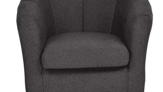 Habitat Ayres Fabric Tub Chair - Charcoal