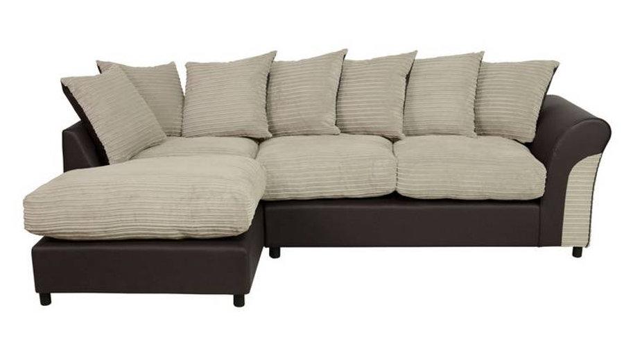 Harry Left Corner Fabric Sofa - Mink