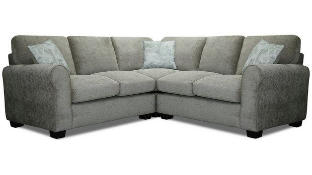 Tammy Corner Fabric Sofa - Mink