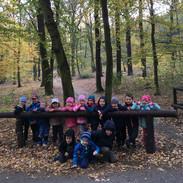 Říjnový dopolední výlet třídy Ježků do Krčského lesa.