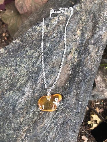 Baltic Amber Nectar Pendant W/ Citrine