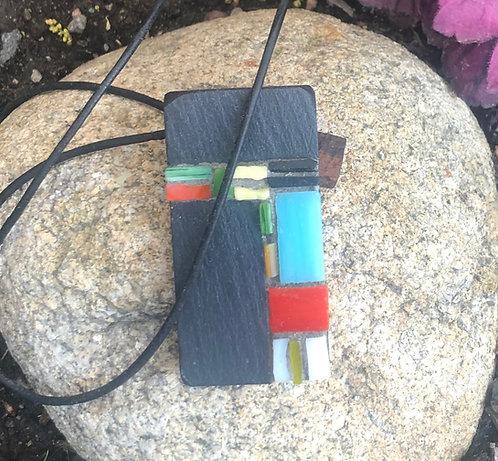 Slate & Ceramic Mosaic Neck Piece