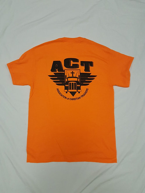 Orange ACT T-Shirt with front pocket