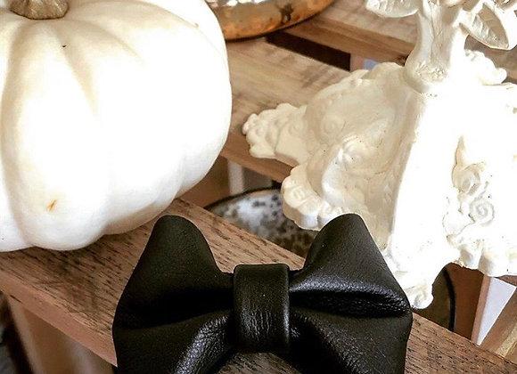 Black Bow Tie Cuff Bracelet