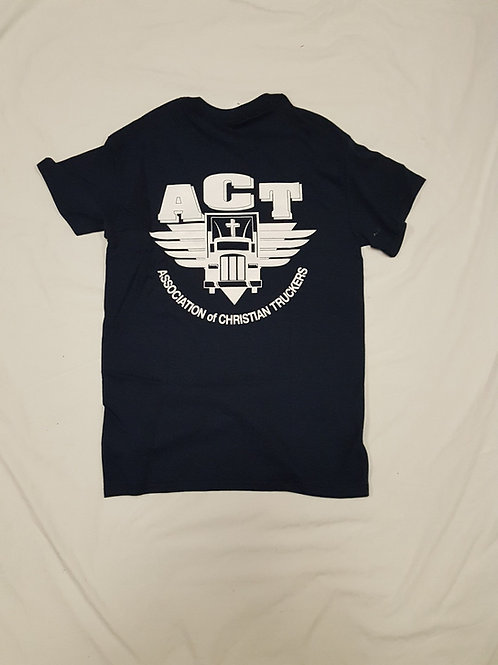 Black ACT T-Shirt with front pocket