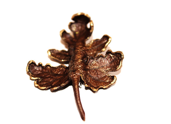 Rose Geranium Leather Brooch Pin