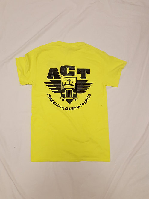Yellow ACT T-Shirt with front pocket