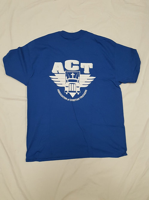 Blue ACT T-Shirt with front pocket