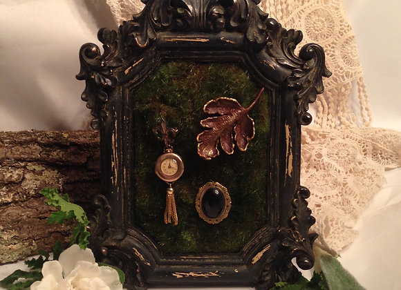 Ornate Baroque Heavy Framed Moss Earring Display Stand