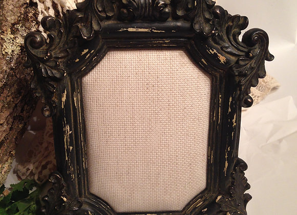 Ornate Baroque Heavy Framed Burlap Earring Display Stand
