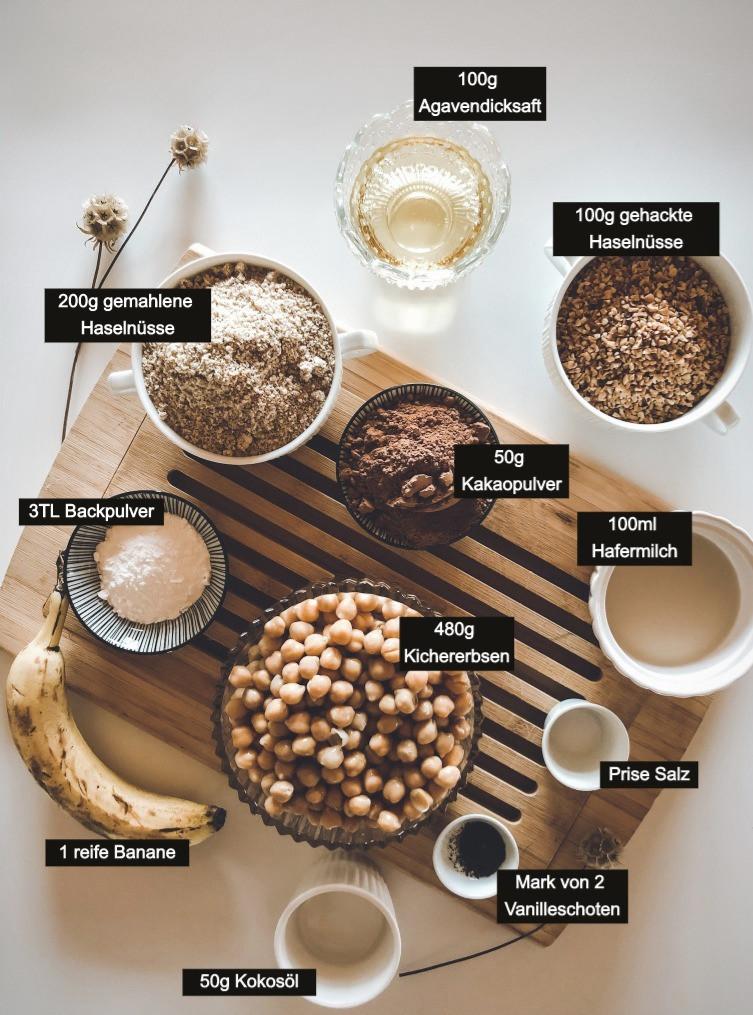 focusflowfood Kichererbsen Kakao Brownies Rezept Gesund Einfach Schnell