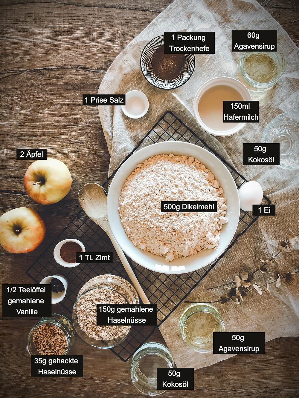 focusflowfood focus flow food Haselnuss Apfel Zimtschnecken Dinkelmehl gesund einfach lecker Rezept