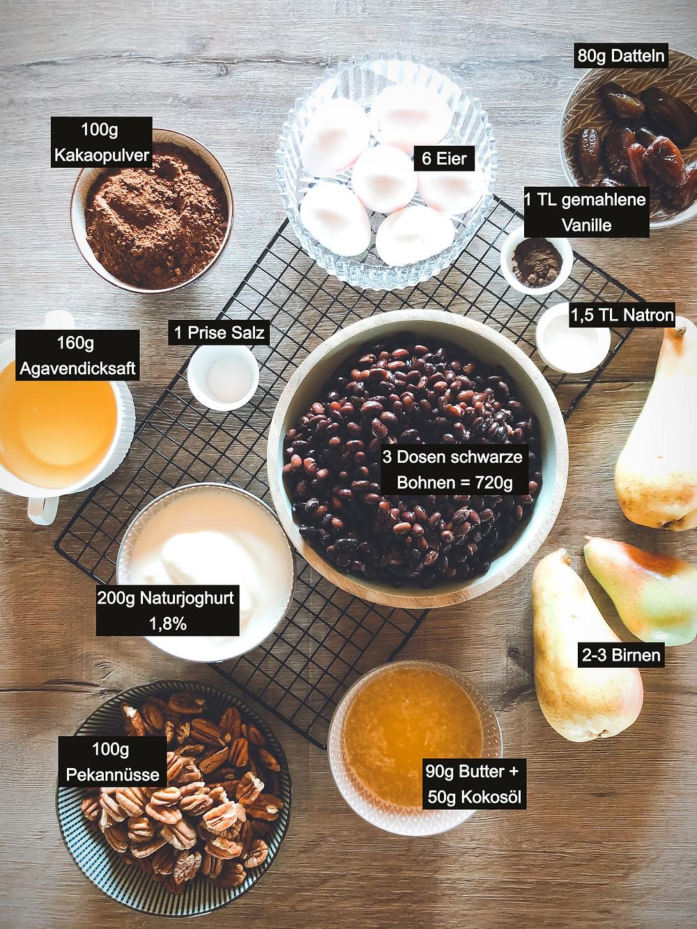 focusflowfood focus flow food healthy recipe gesunder schokoladenkuchen birne helene proteinreich lecker rezept