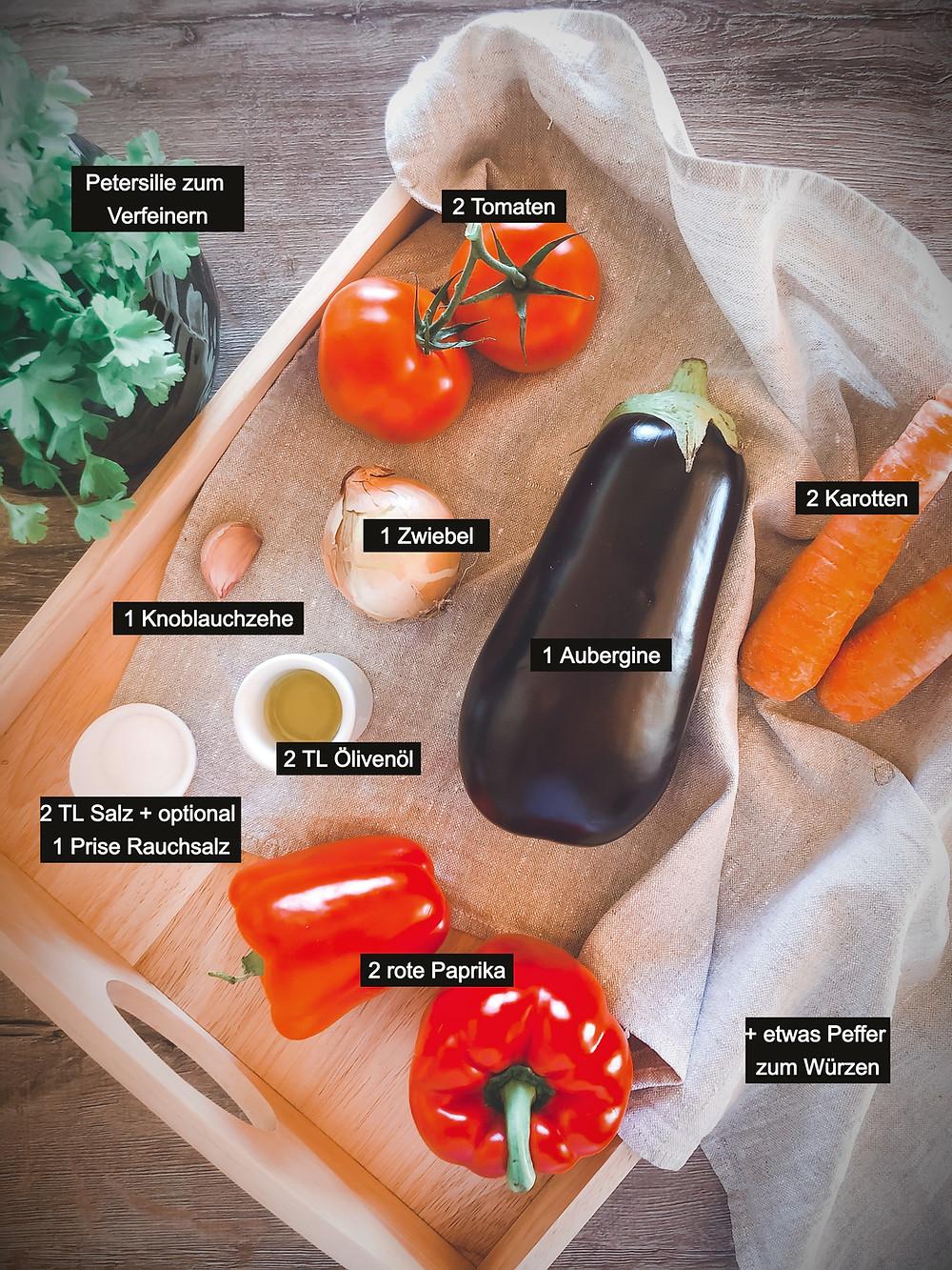 focusflowfood focus flow food gesundes rezept ajvar vegan zum selber machen fitnessfood mealprep Zutaten