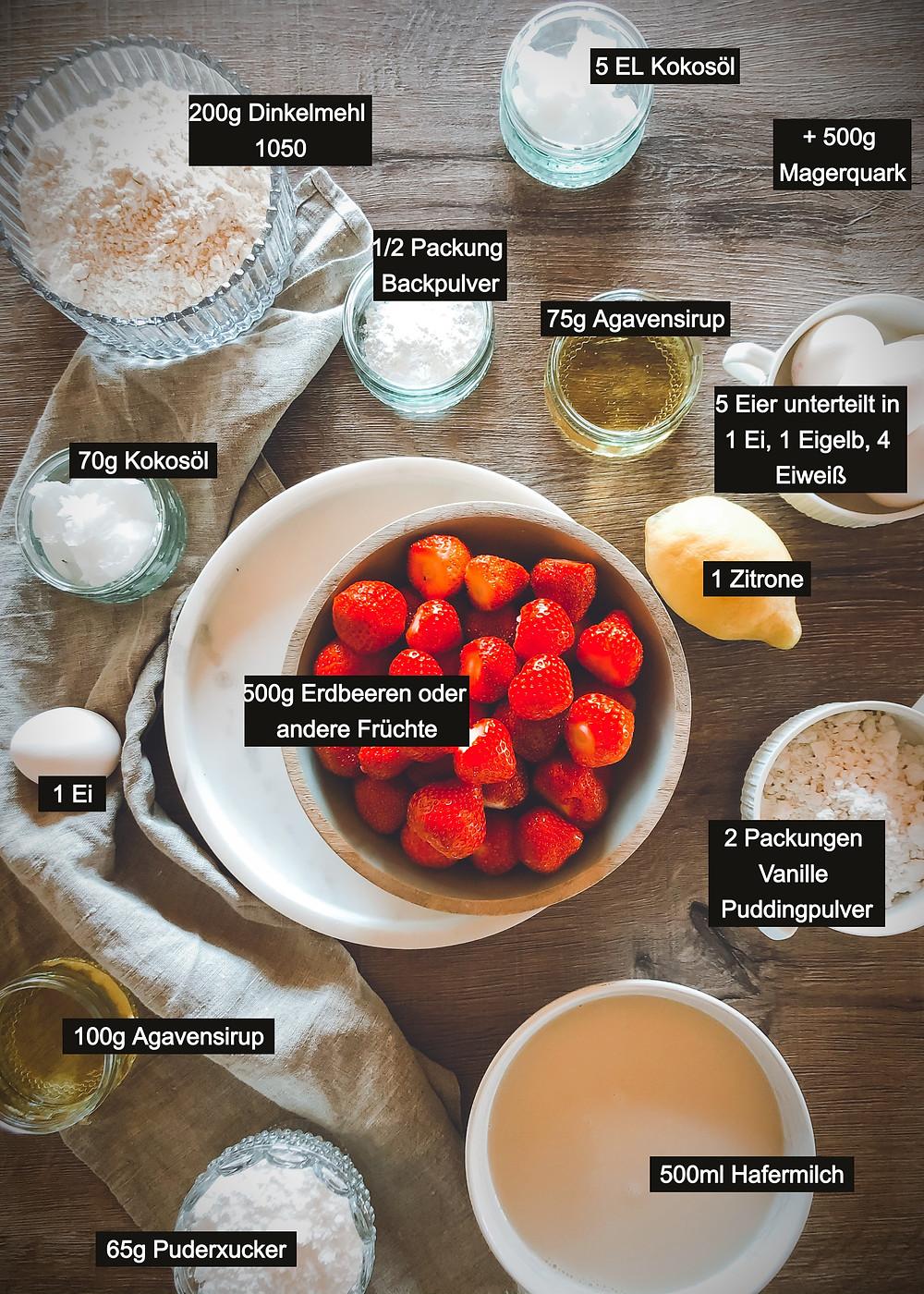 focusflowfood focus flow food Proteinkuchen Käsekuchen Fruchtkuchen luftig lecker gesund lowcarb rezept