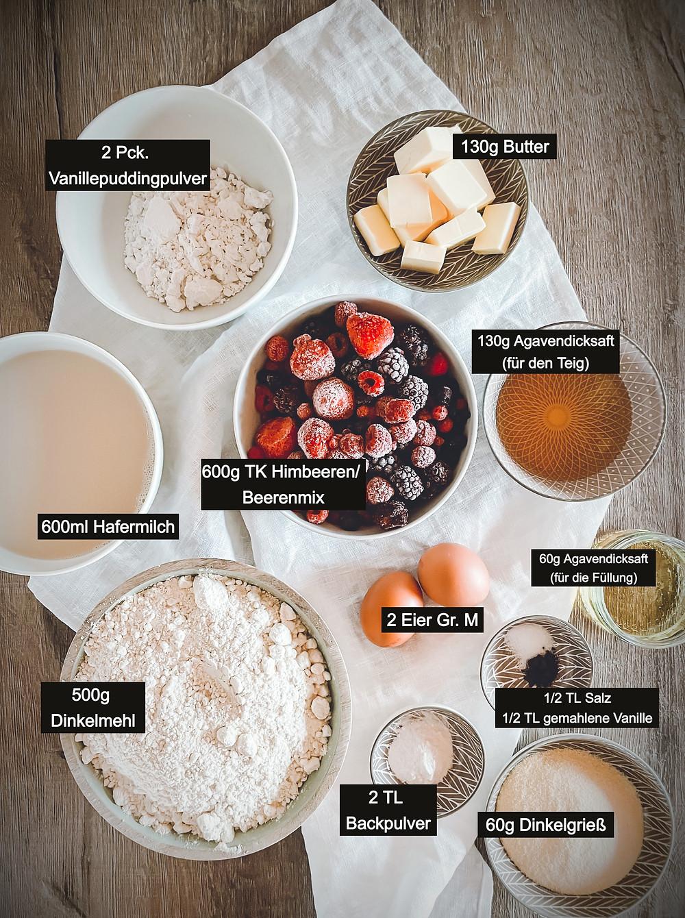 focusflowfood focus flow food beeren pudding kuchen streusel dinkelmehl rezept gesund lecker einfach