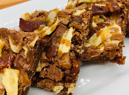 Bourbon-Bacon-Tater Chip Brownies