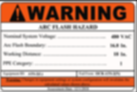 Arc Flasg Label - Electrical Equipment Labeling