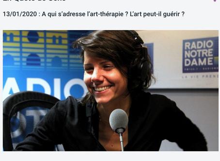 Une interview récente sur l'art-thérapie à Radio Notre dame