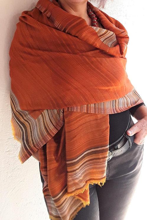 Pashmina do Nepal pura Lã - Terracota
