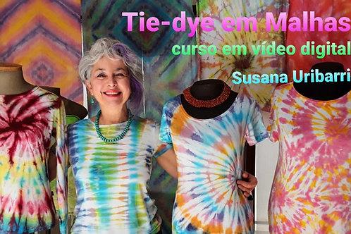 Vídeo Digital: TIE-DYE EM MALHAS + Kit de Corantes em Gel.