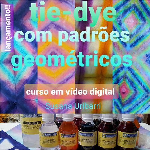 Vídeo Digital: TIE-DYE com Padrões Geométricos + Kit de Corantes em Gel.
