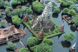 The+flooded+ancient+ruins+(ayuttahaya)+Tailandia