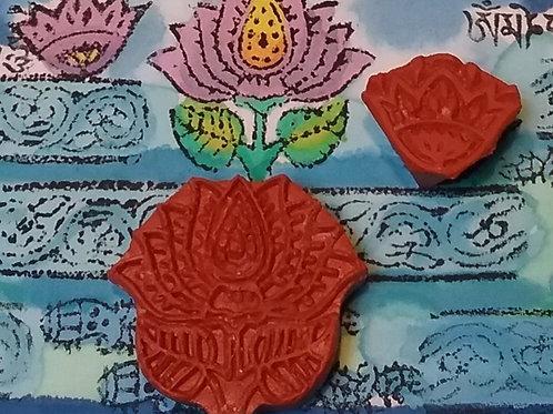 Block Print - Conjunto 2 Flor de Lotus