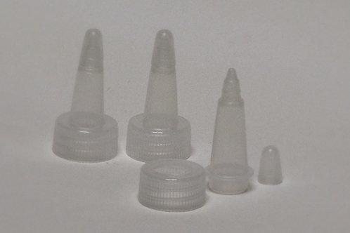 Jogo de Bicos para gutta 60/120 ml. c/ 3 bicos e tampas.