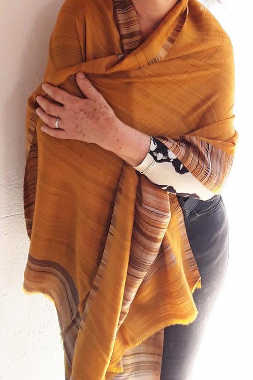 Pashmina do Nepal pura Lã - Açafrão