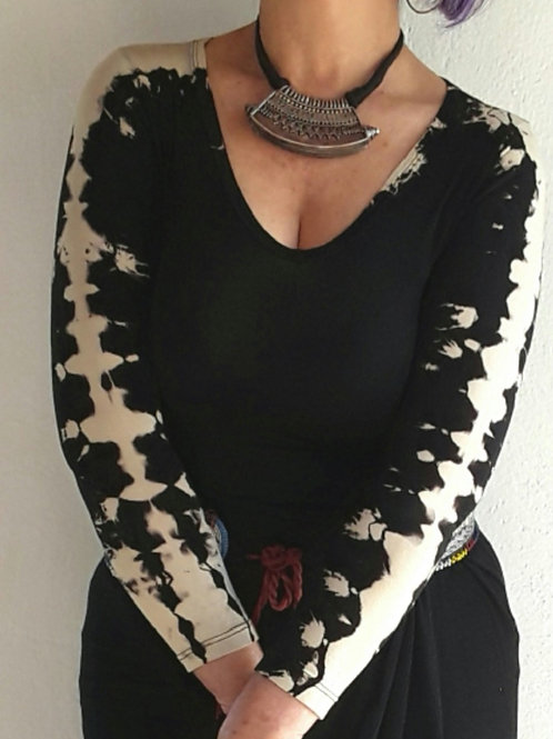 Blusa de Malha em Tie-Dye cor Preta