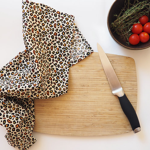 Hipster Leopard Tea Towel