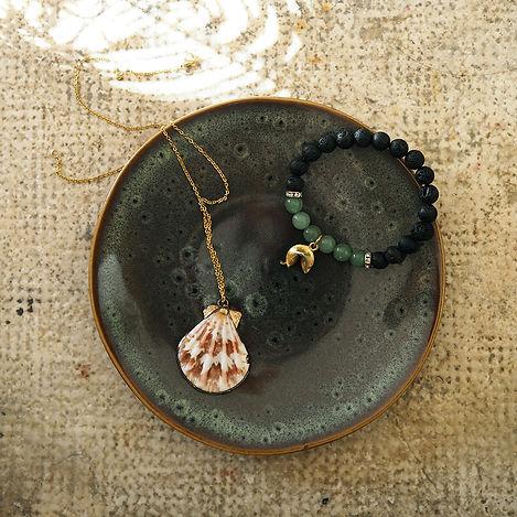Green Ceramic Jewel Plate