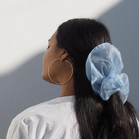 Blue Organza Scrunchy buy