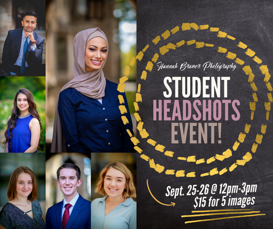 Social graphic - Student Headshots Event