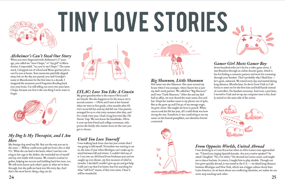 "Page Design - Excerpt from my ""Modern Love"" thesis"