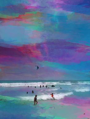 "Digital Art - ""Watercolor Beach"""