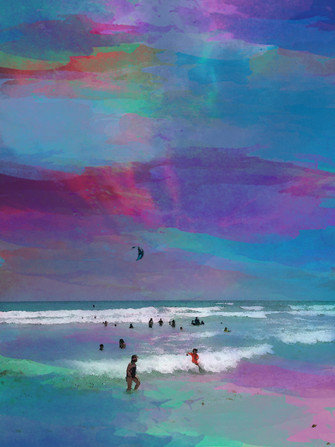 "Digital Art - ""Watercolor Beach"""
