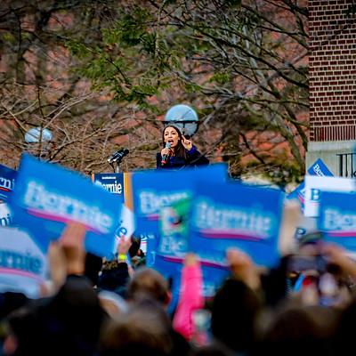 Bernie Sanders & AOC Rally