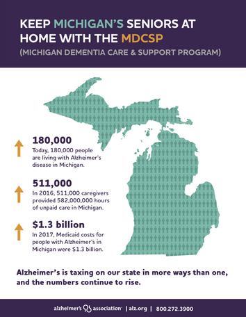 Michigan Alzheimer's Advocacy Handout