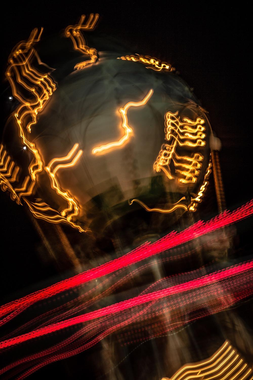 Amusement Park; Neon Lights