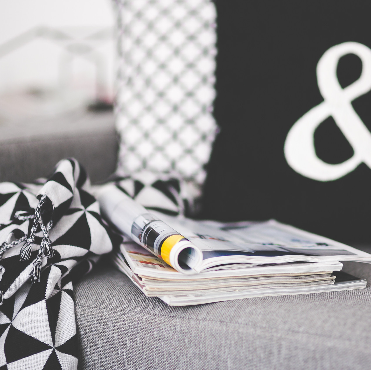 Magazines on Couch