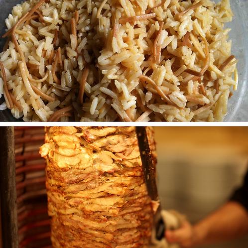 Plat de poulet shish taouk et riz libanais