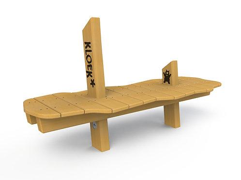 Golvende speeltafel, zitbank zonder rugleuning