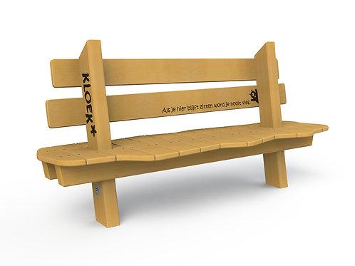 Golvende zitbank met rugleuning