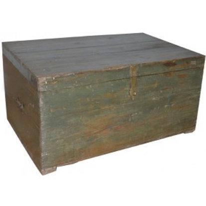 Houten Kist Koffer.Houten Koffer Antiek Hout