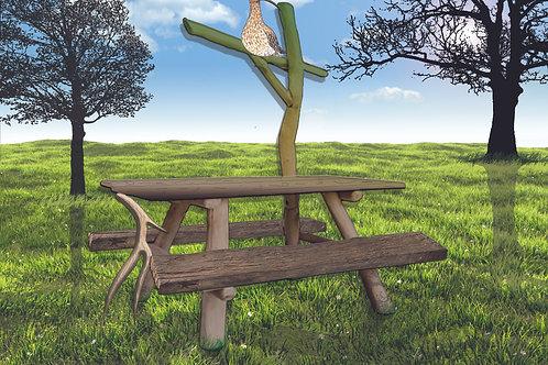 Picknickbank vogel